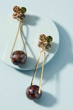 RACHEL COMEY EARRING MULTI COLOR CRYSTALS DANGLE MIKA CLIP ANTHROPOLOGIE $248