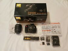 Nikon D3100 18-55 VR Kit Digital SLR Camera w/ Lens - VERY NICE LK NW - Read