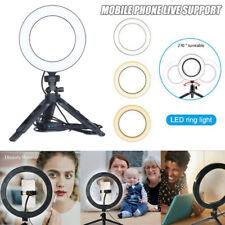 LED Ring Light Lamp Selfie Camera Phone Studio Tripod Stand Photo Video Dimma-qk