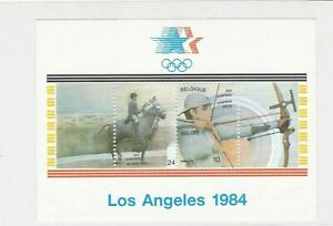 Belgium Celeb. Olympics Los Angeles'64 Mint Never Hinged Stamps Sheet ref R17693