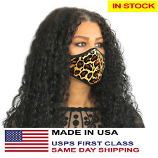 Cheetah Leopard Face Mask Reusable Washable Fashion Chita Mouth Cover Masks