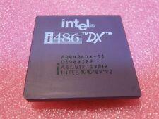 INTEL A80486DX-33 Ceramic Gold CPU Processor i486 80486 DX 33MHz PGA168