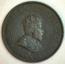1904 Copper Canadian Large Cent Coin 1-Cent Canada VF #7