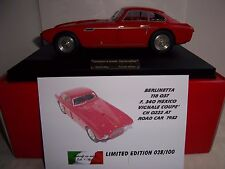 Mg modelo Plus 118037 1952 Ferrari 340 México Vignale Coupe Street 1:18 MIB de resina