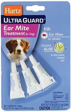 Hartz UltraGuard EAR MITE TREATMENT for Dogs WITH ALOE Pet Care Dog Supplies