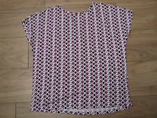 PRINTED TOP WITH V STRAPPY DETAIL AT BACK - SIZE 14 - NEW WITHOUT TAGS
