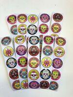 50 Day of the Dead Sugar Skulls stickers  Día de Muertos party favor craft seal