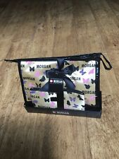 MORGAN TOILETRIES BAG & MAKE UP BAG GIFT SET IN GOLD WITH BUTTERFLIES