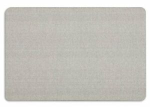 "Quartet Oval Office Fabric Bulletin Board - 24"" Height X 36"" Width - Gray"