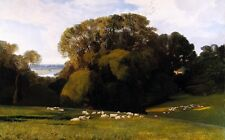 """high quality 36x24 oil painting handpainted on canvas """"sheep, landscape""""@NO254"""