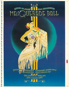 Original Vintage Poster Masquerade Ball Proof Leyendecker Randy Tuten Music 70s