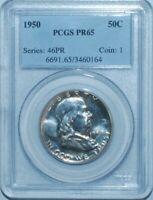 1950 PCGS PR65 Proof Strike Franklin Half Dollar