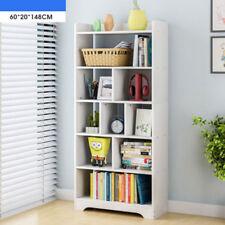 9 Cube White Bookshelf Shelf Tall Shelves Wooden Storage Shelving Office Home UK