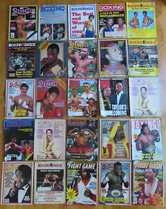 24 BOXING Magazines MIKE TYSON Sugar Ray Leonard THOMAS HEARNS Robert DeNiro