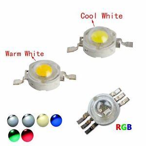 LED COB Chip 1W 3W 5W 3V Bead PCB White Warm Blue Green Red RGB High Power bulbs