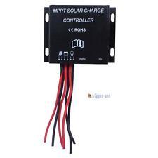 LED 10A MPPT Solar Charge Controller 12V 24V Waterproof Timer IP68 130W/260W BA