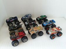 Lot of 9 1/64 Scale Hot Wheels 4x4 Monster Jam Trucks
