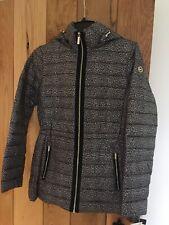 Womens Michael Kors Packable Mac Coat Jacket DK Camel Cheetah  Print Small S