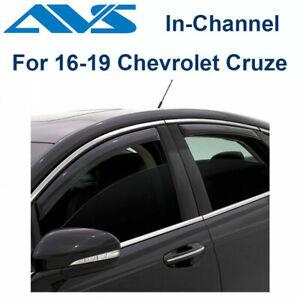 Window Deflectors Voron Glass Tape-on Extra Durable Rain Guards for Chevrolet Vent Window Visors 120006 Cruze 2011-2015 Sedan Chevy 4 Pieces