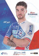 CYCLISME carte cycliste MARC FOURNIER équipe LA FRANCAISE DES JEUX 2017