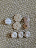 Vintage Lot of Plastic White Buttons