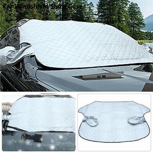 Car Windshield Cover Sun Protector Winter Snow Ice Rain Dust Frost Guard Silver