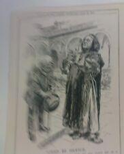 """7x10 """"PUNCH CARTOON 1913 giurato di silenzio rosebery / monaco trappista"""