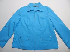 WOMENS lightweight JACKET COAT w/convertible sleeves = CHICO'S = SIZE 2 = gz32