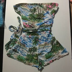 Supre Tropical Playsuit Ladies Sz Small Strapless