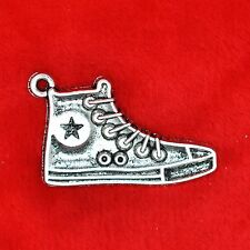 3 x Tibetan Silver Converse Shoe Charm Pendant Finding Bead Jewellery Making