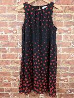 Disney D-Signed L 14 - 16 Dress Black Red Hearts Blouson Alice in Wonderland