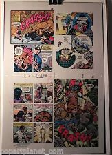 NEW GODS BOOK 6 FLAT 8 JACK KIRBY ORIGINAL 3M COLOR ART SIGNED A. TOLLIN w/COA