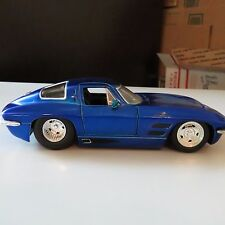 1963 CHEVY CORVETTE STINGRAY BLUE JADA BIGTIME MUSCLE 1:24 SCALE DIE CAST