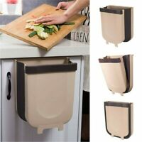 Folding Waste Bin Kitchen Cabinet Door Hanging Trash Bin Trash Can Wall Mounted