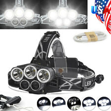 80000LM T6 5x LED Headlamp Rechargeable 18650 Hunting Headlight Flashlight Lamp