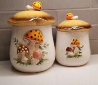 Nastalgia Merry Mushroom 2 Sizes 1978 Japan Sears & Robuck Cookie Jar/Canister