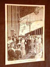 Stazione del treno di Napoli nel 1880 Arrivo della Regina Margherita di Savoia