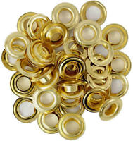 """1/2"""" Brass Plated Replacement Grommets Repair Tarps Tents + Set of 6/12/24/48/96"""
