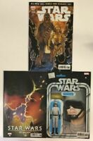 Star Wars #68 3 Variant Lot (Marvel 2019) Greatest Moments Action Figure