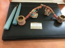Friends Of The Feather: Peace Pipe, Girl and Boy Candle Holders