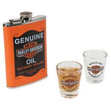 NEW Harley-Davidson HDL-18557 Oil Can Flask & Shot Glass Set - SHIPS FAST