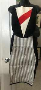 APRON TUXEDO STYLE New With Tags