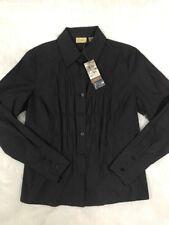 Calson Women's Black Shirt Button Up Long Sleeve Top Size XS NEW
