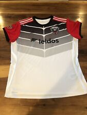 D.C United ADIDAS ClimaCool White Leidos Soccer Jersey Women's XL MLS