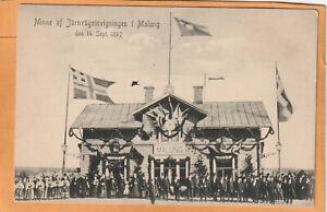 Malung Railroad Station Sweden 1905 Postcard