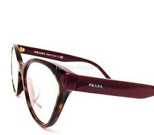 PRADA 02T-F USH-1O1 Eyeglasses Optical Frames Glasses Tortoise & Burgundy 54mm