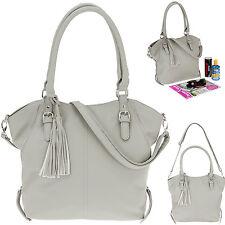 Handtasche ALESSANDRO NEAPEL 4452 Schultertasche Shoppertasche Tasche GRAU