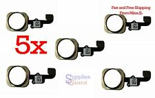 5x Home Button Flex Cable Key Replacement Apple iPhone 6S & 6S Plus Lot 5 Gold