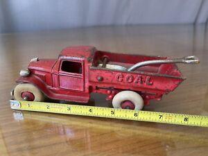 "Old Original 1930's KENTON Cast Iron COAL Truck w Shawal 7.5"""