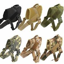 K9 Walking Harness Adjustable Nylon Dog German Shepard Small Large Vest Bungee